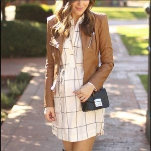 lush windowpane dress